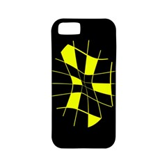 Yellow Abstract Flower Apple Iphone 5 Classic Hardshell Case (pc+silicone) by Valentinaart