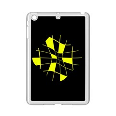 Yellow Abstract Flower Ipad Mini 2 Enamel Coated Cases by Valentinaart