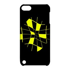 Yellow Abstract Flower Apple Ipod Touch 5 Hardshell Case With Stand by Valentinaart