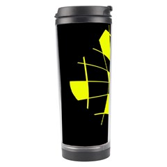 Yellow Abstract Flower Travel Tumbler