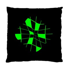Green Abstract Flower Standard Cushion Case (one Side) by Valentinaart