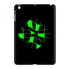 Green Abstract Flower Apple Ipad Mini Case (black) by Valentinaart