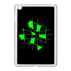 Green Abstract Flower Apple Ipad Mini Case (white) by Valentinaart