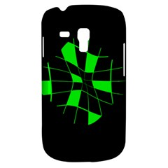 Green Abstract Flower Samsung Galaxy S3 Mini I8190 Hardshell Case by Valentinaart