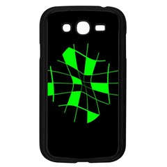 Green Abstract Flower Samsung Galaxy Grand Duos I9082 Case (black) by Valentinaart