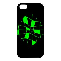 Green Abstract Flower Apple Iphone 5c Hardshell Case by Valentinaart