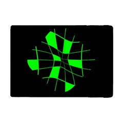 Green Abstract Flower Ipad Mini 2 Flip Cases by Valentinaart