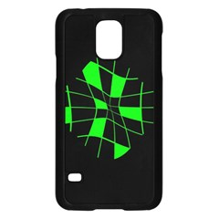 Green Abstract Flower Samsung Galaxy S5 Case (black) by Valentinaart