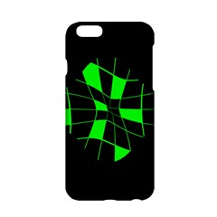 Green Abstract Flower Apple Iphone 6/6s Hardshell Case by Valentinaart