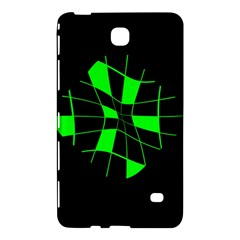 Green Abstract Flower Samsung Galaxy Tab 4 (7 ) Hardshell Case  by Valentinaart