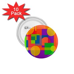Colorful Circle  1 75  Buttons (10 Pack)