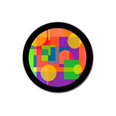 Colorful Circle  Magnet 3  (round) by Valentinaart