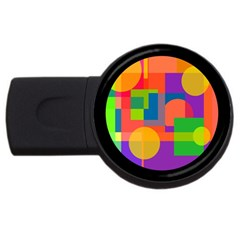 Colorful Circle  Usb Flash Drive Round (2 Gb)  by Valentinaart