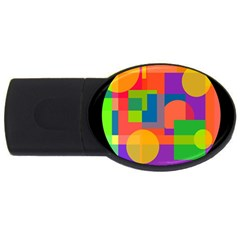 Colorful Circle  Usb Flash Drive Oval (2 Gb)  by Valentinaart