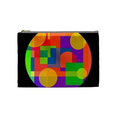 Colorful Circle  Cosmetic Bag (medium)  by Valentinaart