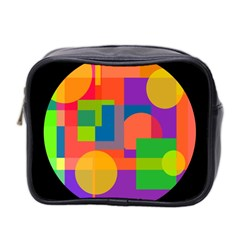 Colorful Circle  Mini Toiletries Bag 2 Side by Valentinaart