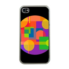 Colorful Circle  Apple Iphone 4 Case (clear) by Valentinaart
