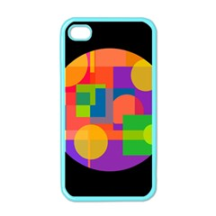 Colorful Circle  Apple Iphone 4 Case (color) by Valentinaart
