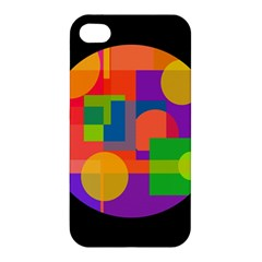 Colorful Circle  Apple Iphone 4/4s Hardshell Case by Valentinaart