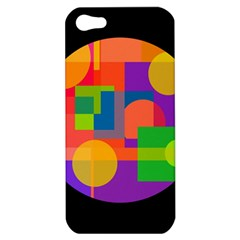 Colorful Circle  Apple Iphone 5 Hardshell Case by Valentinaart