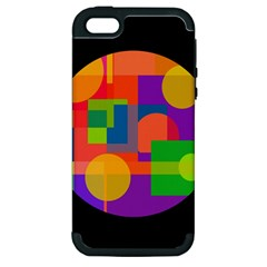 Colorful Circle  Apple Iphone 5 Hardshell Case (pc+silicone) by Valentinaart