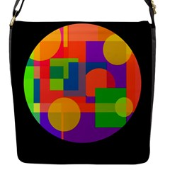 Colorful Circle  Flap Messenger Bag (s) by Valentinaart