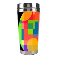 Colorful Circle  Stainless Steel Travel Tumblers by Valentinaart