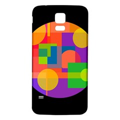 Colorful Circle  Samsung Galaxy S5 Back Case (white) by Valentinaart