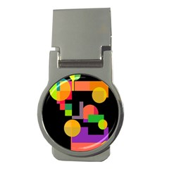 Colorful Abstraction Money Clips (round)  by Valentinaart