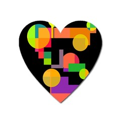 Colorful Abstraction Heart Magnet by Valentinaart