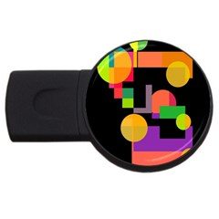 Colorful Abstraction Usb Flash Drive Round (2 Gb)  by Valentinaart
