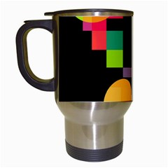 Colorful Abstraction Travel Mugs (white) by Valentinaart