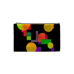 Colorful Abstraction Cosmetic Bag (small)  by Valentinaart