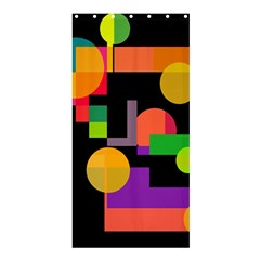 Colorful Abstraction Shower Curtain 36  X 72  (stall)  by Valentinaart
