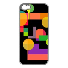 Colorful Abstraction Apple Iphone 5 Case (silver) by Valentinaart