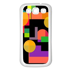 Colorful Abstraction Samsung Galaxy S3 Back Case (white) by Valentinaart