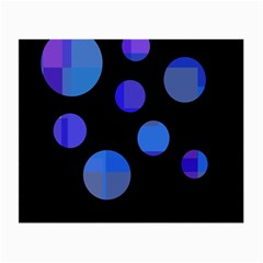 Blue Circles  Small Glasses Cloth by Valentinaart