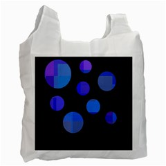 Blue Circles  Recycle Bag (one Side) by Valentinaart