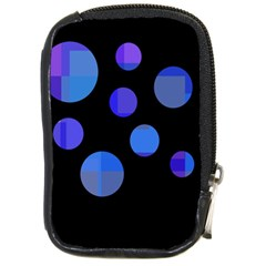 Blue Circles  Compact Camera Cases by Valentinaart
