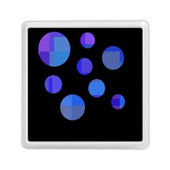 Blue Circles  Memory Card Reader (square)  by Valentinaart