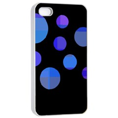 Blue Circles  Apple Iphone 4/4s Seamless Case (white)
