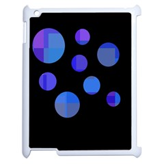 Blue Circles  Apple Ipad 2 Case (white) by Valentinaart