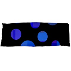 Blue Circles  Body Pillow Case (dakimakura) by Valentinaart