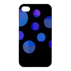Blue Circles  Apple Iphone 4/4s Premium Hardshell Case
