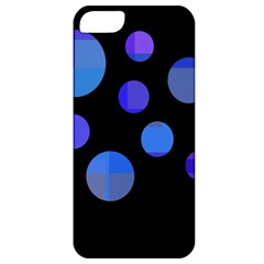 Blue Circles  Apple Iphone 5 Classic Hardshell Case by Valentinaart