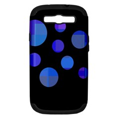 Blue Circles  Samsung Galaxy S Iii Hardshell Case (pc+silicone) by Valentinaart