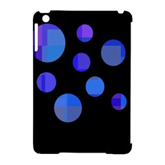 Blue Circles  Apple Ipad Mini Hardshell Case (compatible With Smart Cover) by Valentinaart