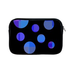 Blue Circles  Apple Ipad Mini Zipper Cases by Valentinaart