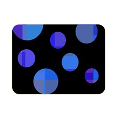 Blue Circles  Double Sided Flano Blanket (mini)  by Valentinaart