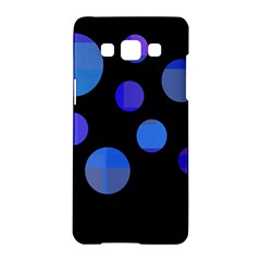 Blue Circles  Samsung Galaxy A5 Hardshell Case  by Valentinaart